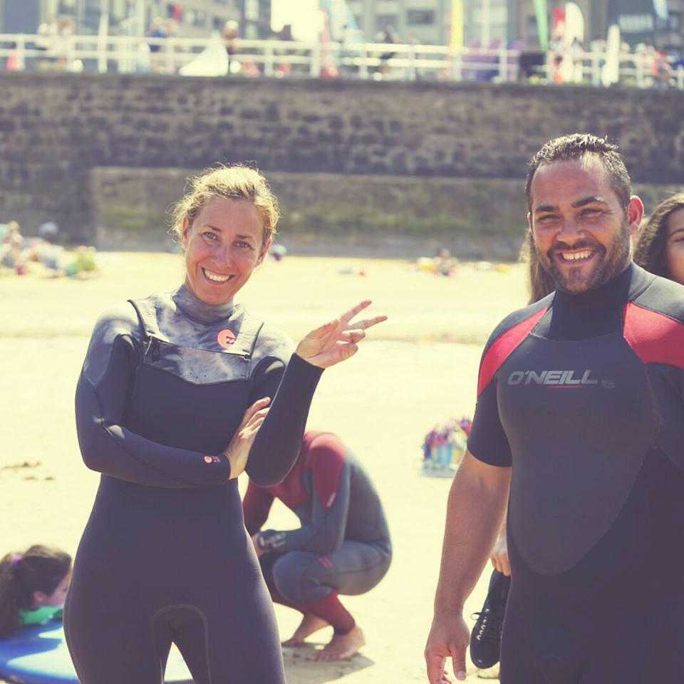 III Jornadas de Surf Solidario en Gijón con Lucas García